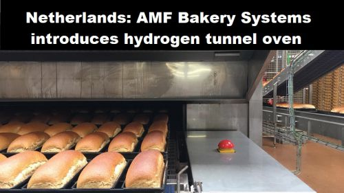 Nederland: AMF Bakery Systems introduceert tunneloven op waterstof
