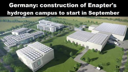 Duitsland: bouw waterstofcampus van Enapter in september van start